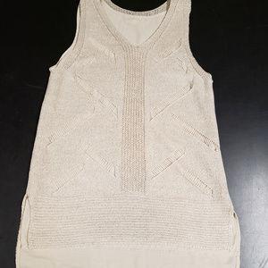 Cato extra small beige v neck sleeveless blouse